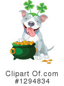 Royalty-Free (RF) Pitbull Clipart Illustration #1294834