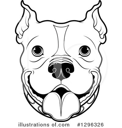 Pit Bull Clipart #1296326 by Pushkin