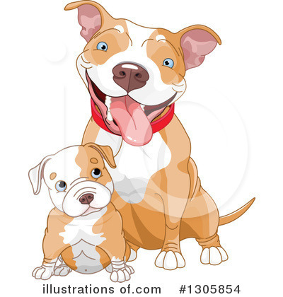 Pit Bull Clipart #1305854 by Pushkin