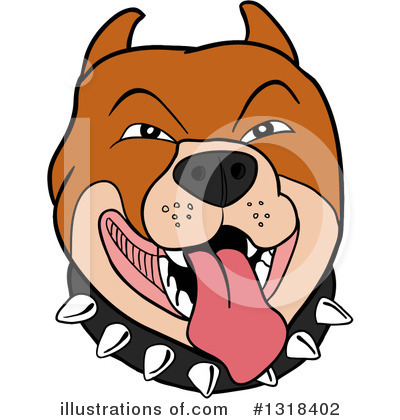 Pit Bull Clipart #1318402 by LaffToon