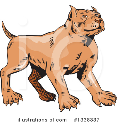 Pit Bull Clipart #1338337 by patrimonio