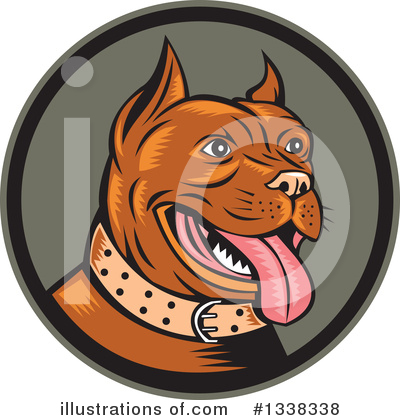 Pit Bull Clipart #1338338 by patrimonio