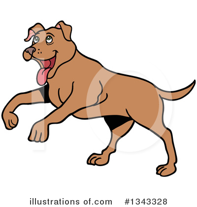 Pit Bull Clipart #1343328 by LaffToon
