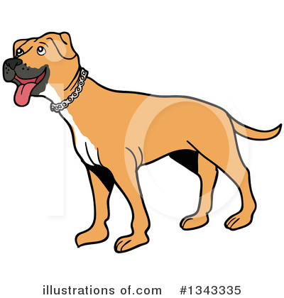 Pit Bull Clipart #1343335 by LaffToon
