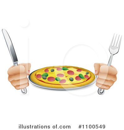 Pizza Clipart #1100549 by AtStockIllustration