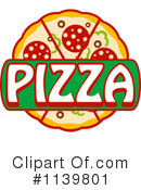 Pizza Clipart #1139801 by Vector Tradition SM