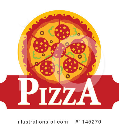 Pizza Clipart #1145270 by Vector Tradition SM