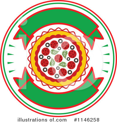 Pizza Clipart #1146258 by Vector Tradition SM
