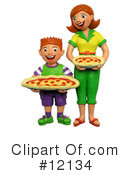 Royalty-Free (RF) Pizza Clipart Illustration #12134