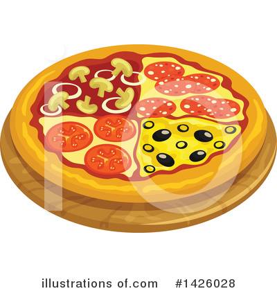 Pizza Clipart #1426028 by Vector Tradition SM