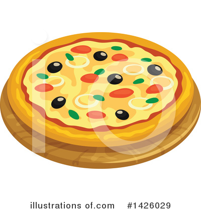 Pizza Clipart #1426029 by Vector Tradition SM