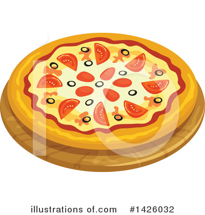 Pizza Clipart #1426032 by Vector Tradition SM