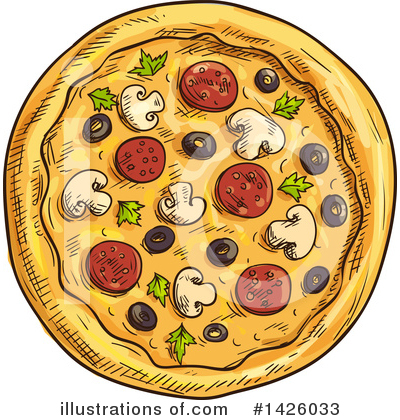 Pizza Clipart #1426033 by Vector Tradition SM