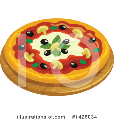 Pizza Clipart #1426034 by Vector Tradition SM