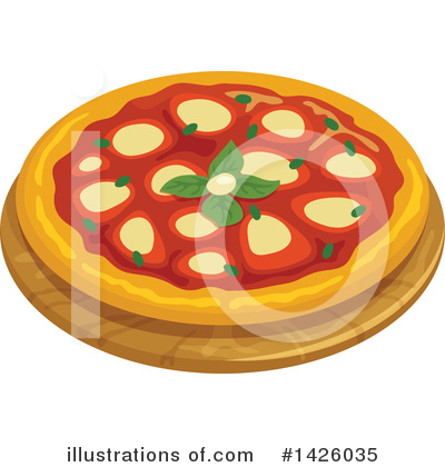 Pizza Clipart #1426035 by Vector Tradition SM