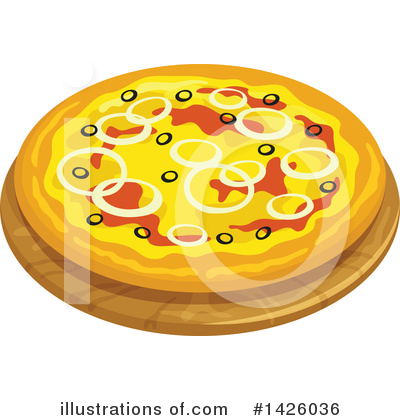 Pizza Clipart #1426036 by Vector Tradition SM