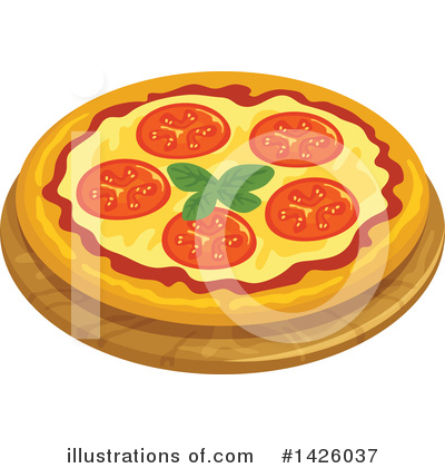 Pizza Clipart #1426037 by Vector Tradition SM