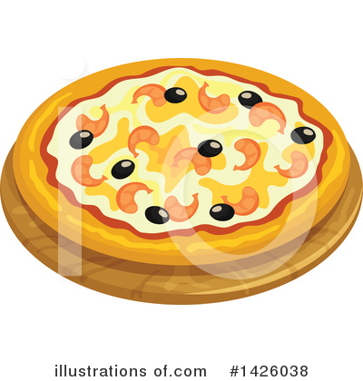 Pizza Clipart #1426038 by Vector Tradition SM