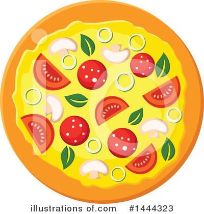 Pizza Clipart #1444323 by Vector Tradition SM