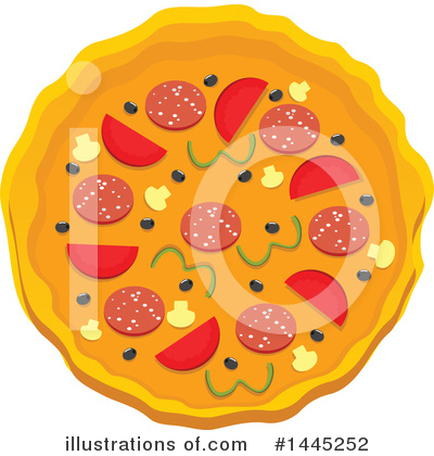 Pizza Clipart #1445252 by Vector Tradition SM