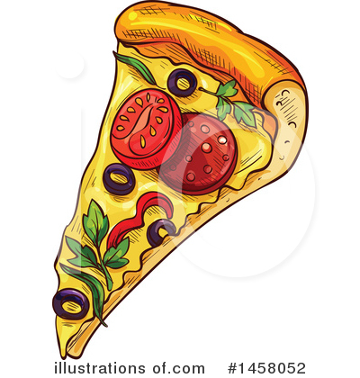 Pizza Clipart #1458052 by Vector Tradition SM