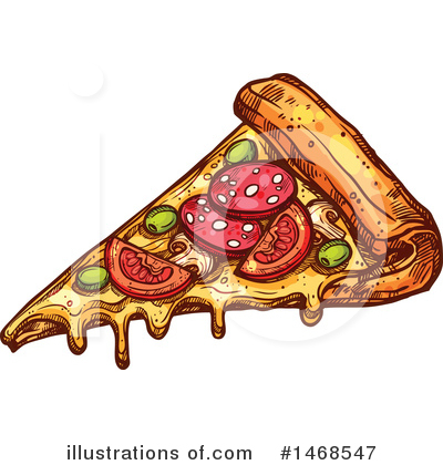 Pizza Clipart #1468547 by Vector Tradition SM