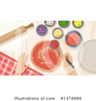 Royalty-Free (RF) Pizza Clipart Illustration by BNP Design Studio - Stock Sample #1478966