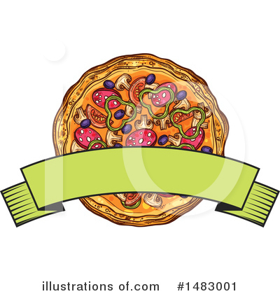 Royalty-Free (RF) Pizza Clipart Illustration by Vector Tradition SM - Stock Sample #1483001