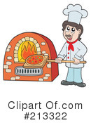 Royalty-Free (RF) Pizza Clipart Illustration #213322