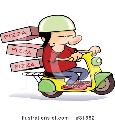 Pizza Delivery Clipart #31682 by gnurf