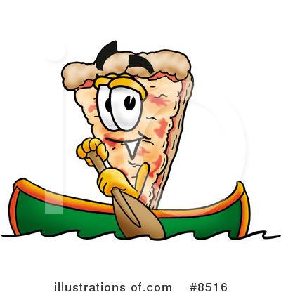 Royalty-Free (RF) Pizza Clipart Illustration by Toons4Biz - Stock Sample #8516