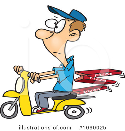 Royalty-Free (RF) Pizza Delivery Clipart Illustration by toonaday - Stock Sample #1060025