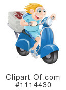 Royalty-Free (RF) Pizza Delivery Clipart Illustration #1114430