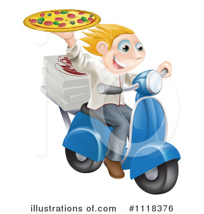 Pizza Delivery Clipart #1118376 by AtStockIllustration