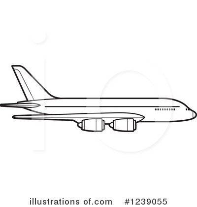 Airplane Clipart #1239055 by Lal Perera