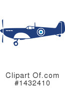 Royalty-Free (RF) Plane Clipart Illustration #1432410