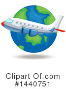 Royalty-Free (RF) Plane Clipart Illustration #1440751