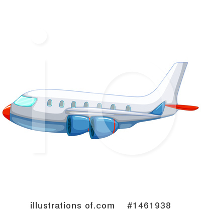 Royalty-Free (RF) Plane Clipart Illustration by Graphics RF - Stock Sample #1461938