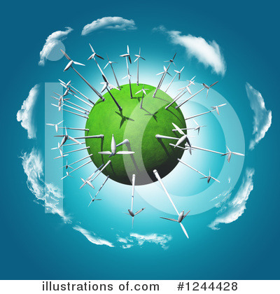 Wind Turbine Clipart #1244428 by KJ Pargeter
