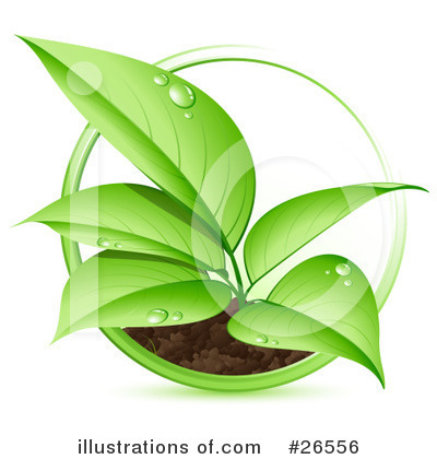 Royalty-Free (RF) Plant Clipart Illustration by beboy - Stock Sample #26556