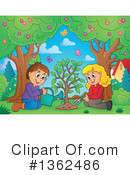 Royalty-Free (RF) Planting Clipart Illustration #1362486
