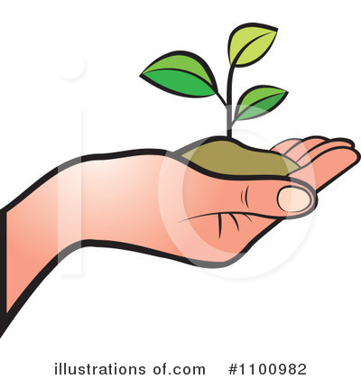 Plant Clipart #1100982 by Lal Perera
