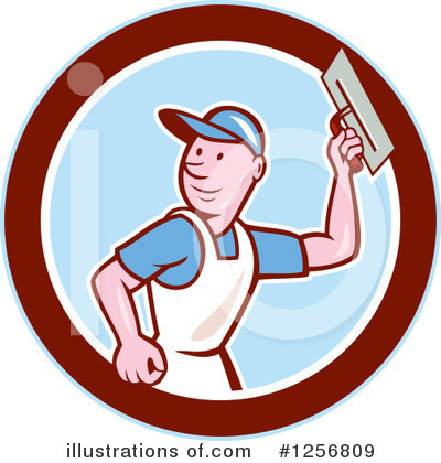 Royalty-Free (RF) Plasterer Clipart Illustration by patrimonio - Stock Sample #1256809