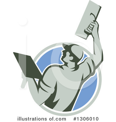 Royalty-Free (RF) Plasterer Clipart Illustration by patrimonio - Stock Sample #1306010