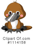 Royalty-Free (RF) Platypus Clipart Illustration #1114158