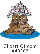 Platypus Clipart #43006 by Dennis Holmes Designs