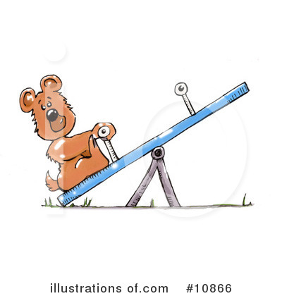 Teeter Totter Clipart #10866 by Spanky Art