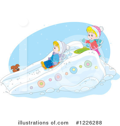 Sledding Clipart #1226288 by Alex Bannykh