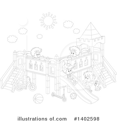 Playground Clipart #1402598 by Alex Bannykh