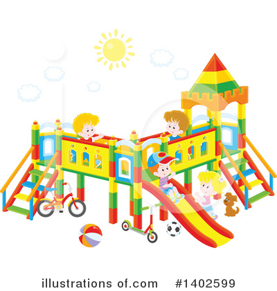 Playground Clipart #1402599 by Alex Bannykh